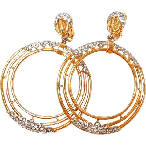 Hoop Rhinestone Earring large hoop rhinestone earrings from