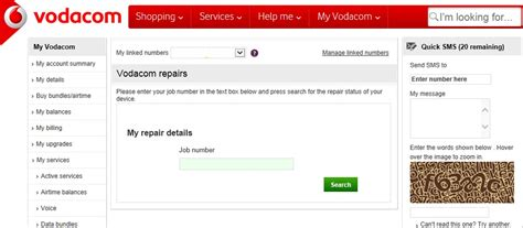 website like vodacom solved how can i track the repair status of my device