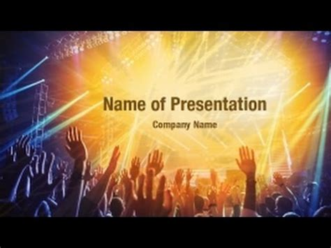 rock powerpoint themes rock concert powerpoint video template backgrounds