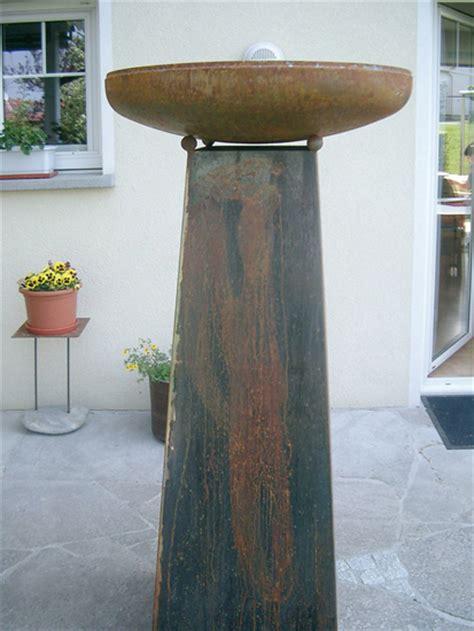 Feuerschale Hoch by Galerie Heribert Hehle Blumen Wetterschutz