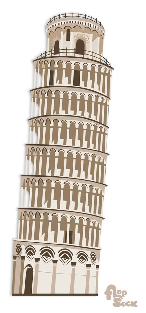 Leaning Tower Of Pisa Coloring Page Leaning Tower Of Pisa Coloring Page