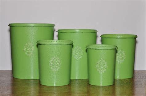 Midi Canister 5 Lt Tupperware 5 apple green tupperware canisters with lids canisters apples and tupperware