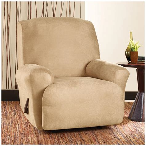 slipcover recliner sure fit 174 stretch leather recliner slipcover 581254