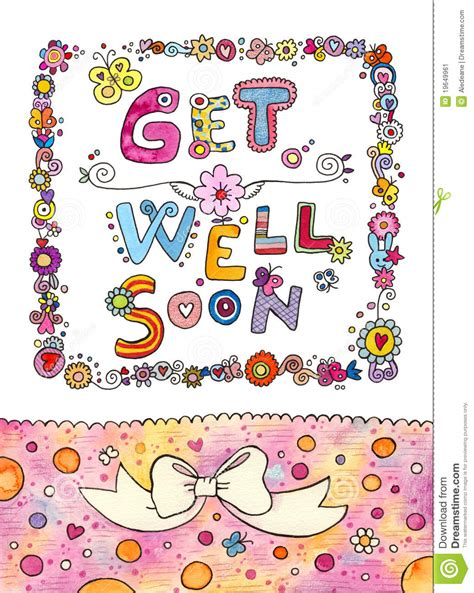 get well soon card template ks1 get well soon card stock image image 19649961