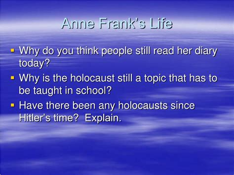 anne frank biography powerpoint ppt anne frank s hiding place powerpoint presentation