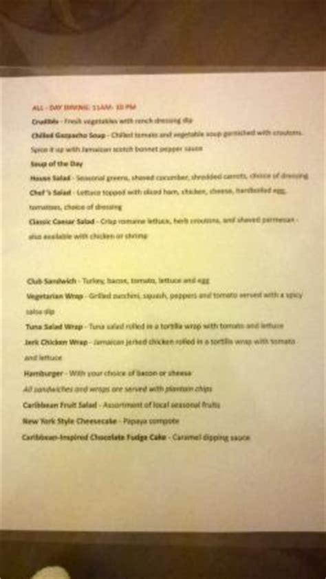 room service menu 2 picture of sandals emerald bay golf