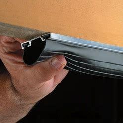 how to install garage door weatherstripping