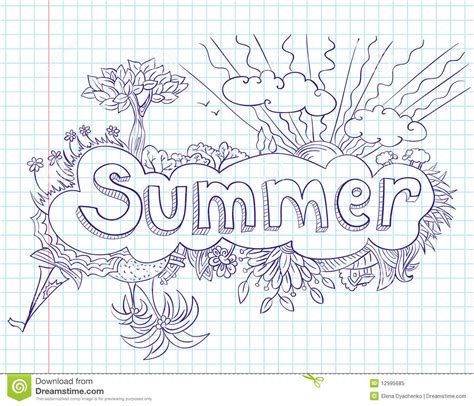 doodle summer summertime doodles foto