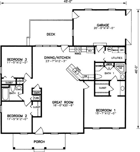 floor plan for a 940 sq ft ranch style home house plans 1600 sq ft numberedtype