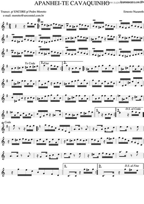 Super Partituras - Apanhei-Te Cavaquinho v.2 (Ernesto