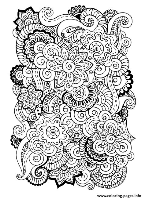 anti stress coloring books for adults zen antistress free 5 coloring pages printable