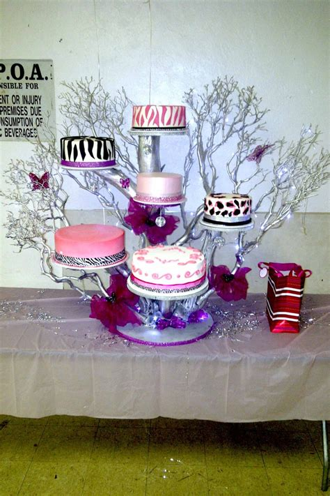 Hector's Custom Cakes: Tree Cake Stand   Quinceanera/Sweet
