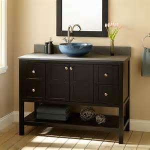 Sink Vanity 48 48 Quot Bowman Vessel Sink Vanity Espresso Bathroom