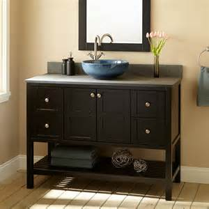 48 quot bowman vessel sink vanity espresso bathroom