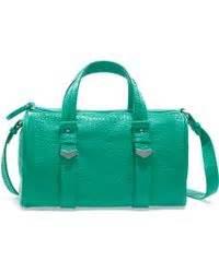 Zara Micro Bowling Bag prada spazzolato zip tote bag in green teal lyst