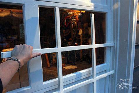 Adding Grilles To Garage Door Windows Pretty Handy Girl Adding Windows To Garage Door