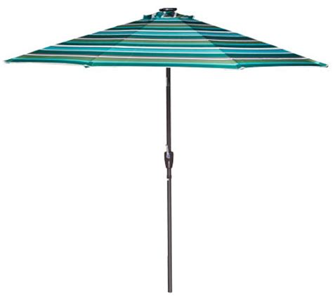 Patio Umbrella With Lights Qvc Atleisure 9 Light Solar Patio Umbrella With 44 Led S And