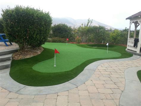 putting green pavers sand trap combination green