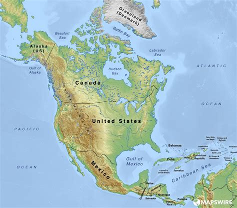 map of america physical free physical maps of america mapswire