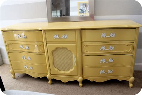 painted dresser yellow furniture