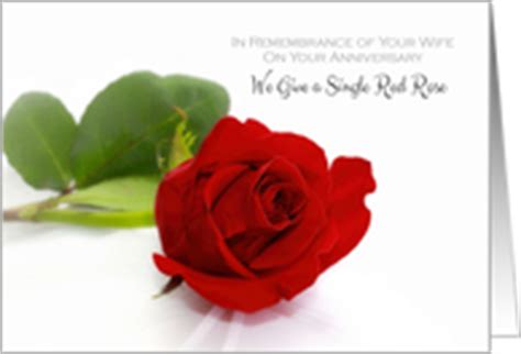 Wedding Anniversary Card For Widow by In Remembrance Of Spouse Wedding Anniversary Cards From