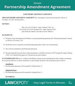 operating agreement amendment template partnership amendment form free partnership amendment