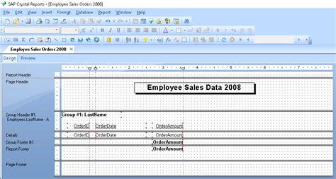 underlay following sections crystal reports crystal reports skillforge