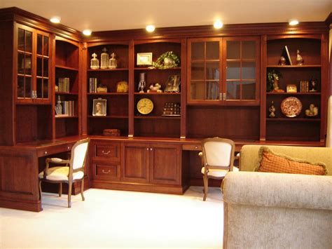 Cherry Home Office Furniture Crafted Home Office Cabinetry In Cherry By Odhner Odhner Woodworking Inc