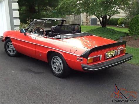 1982 alfa romeo spider 1982 alfa romeo spider veloce convertible 50k