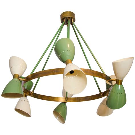large chandelier shades large italian 1950s chandelier with hourglass shades at