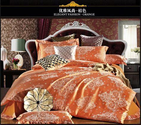 orange comforter sets queen orange silk bedding set 4pcs wedding bed cover silk bed