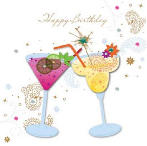 birthday cocktail handmade cocktails birthday greeting card by talking