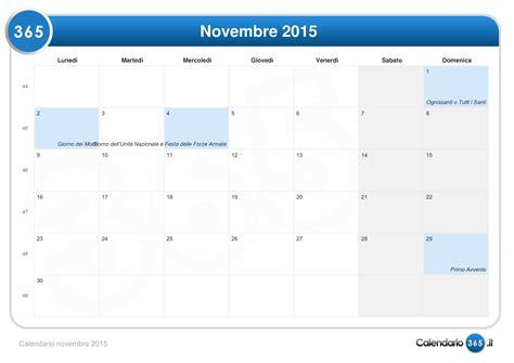 Calendario 8 Novembre 2015 Calendario Novembre 2015