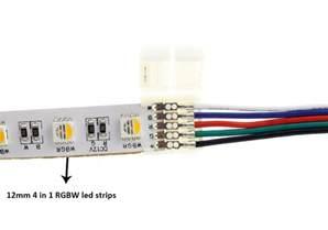 led lights connectors 12mm pcb rgbw led light connectors solderless