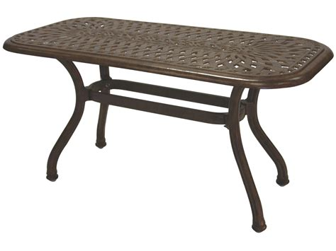 60 Patio Table Darlee Outdoor Living Series 60 Cast Aluminum 42 X 21