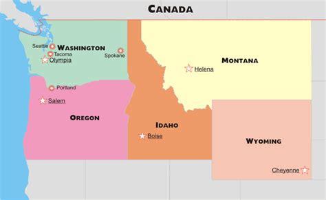 northwestern united states map northwestern us political map by freeworldmaps net
