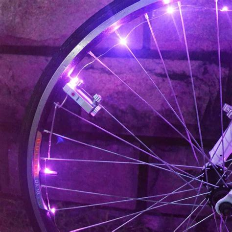 Led Light Strips For Bikes 20 Led Bike Spoke Wheel String Light Safety L For Bike Bicycle Cycling Ebay