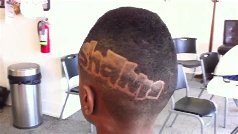 what are the names those designs in haircut fro hawk faux hawk with name design haircut pt 1 youtube
