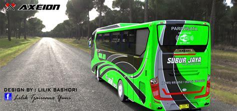 gambar desain bus design bus axeion terbaru karoseri indonesia