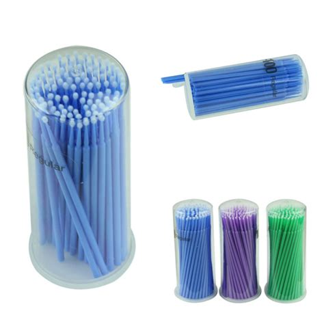 Micro Brush Applicators Isi 100 Pcs delicate 100pcs lot eyelash extension micro brushes