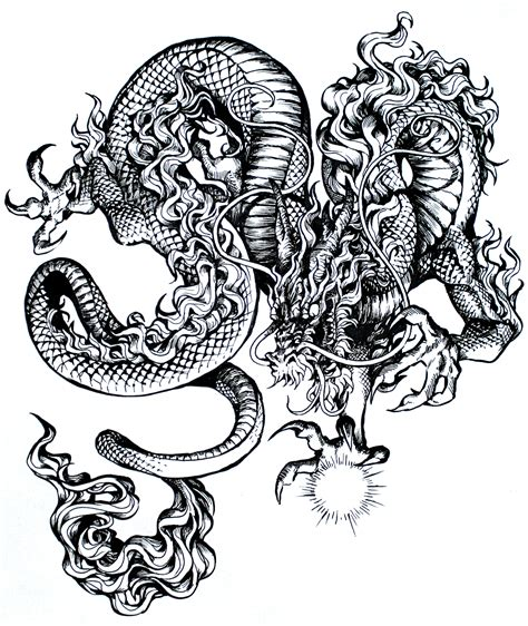 tattoo dragon ink dragon ink by kawiku on deviantart