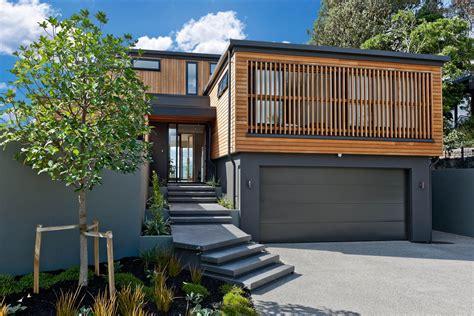 Cinder Block Garage Plans by Dise 241 O Casa Moderna Dos Piso Madera Metal Construye Hogar