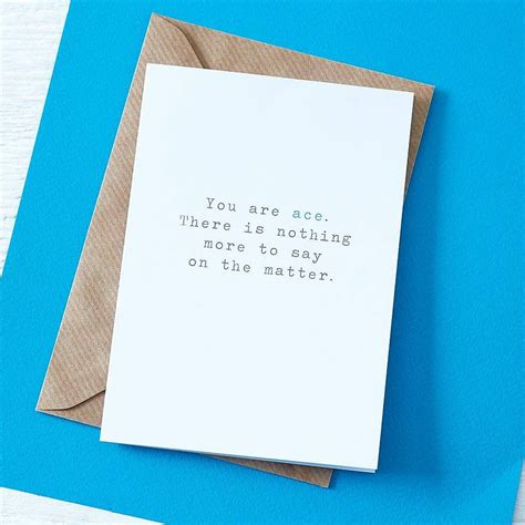card for you are ace greetings card by slice of pie designs