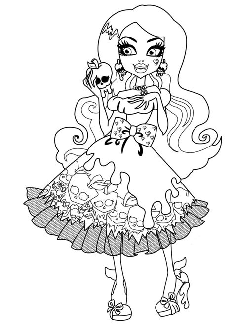 monster high coloring pages pdf free downloads coloring