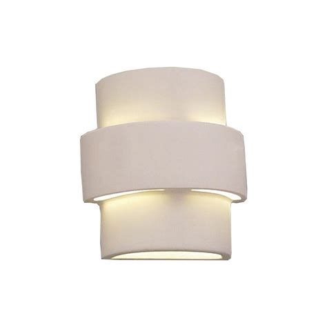 Ceramic Wall Sconce Filament Design Daniel Paintable Bisque Ceramic Outdoor