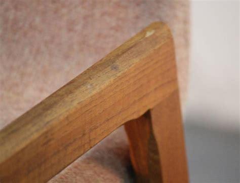 pair of teak and rosewood detail of danish modern floating pair of danish teak and upholstered bar stools at 1stdibs
