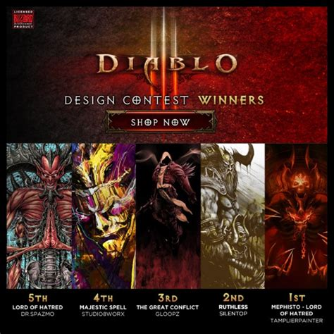 design by humans contest grand prize winners of diablo design contest by design by