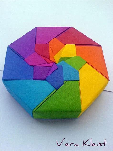 Origami Octagon Box - origami rainbow box origami origami