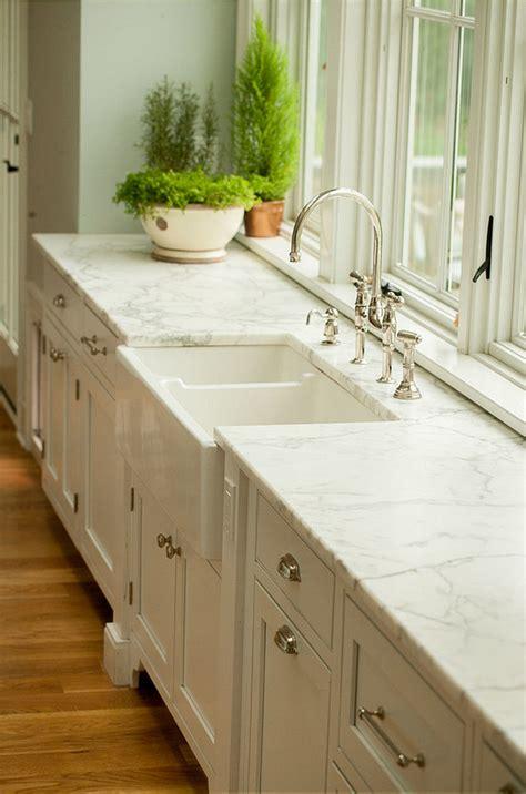 Calacatta Gold Marble Countertops farmhouse kitchen renovation home bunch interior design