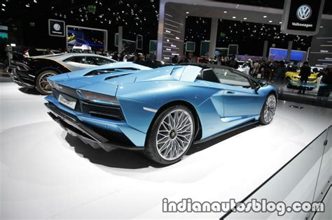 lamborghini aventador s roadster back lamborghini aventador s roadster rear three quarters at the iaa 2017